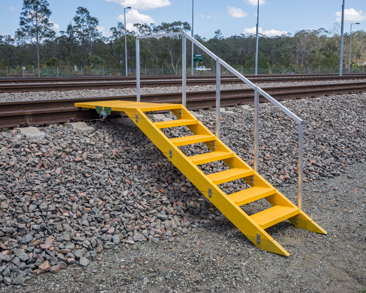 Light weight Composite Stairs for Rail Personnel Maintenance