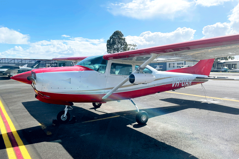 Carbon-Fibre-Camera-Pod-Housing-Aerial-Imagery-in-flight-on-wing-Cessna-182