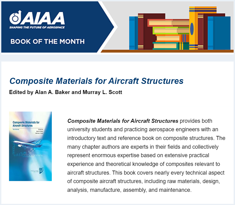 AIAA-Book-of-the-Month-April-2021-Composite-Materials-for-Aircraft-Structures-Advanced-Composite-Structures-Australia